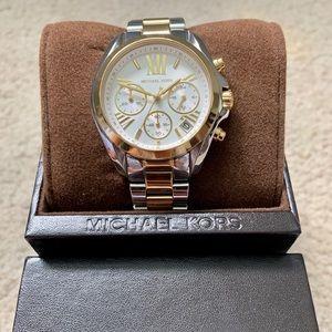 Michael Kors 2 tone gold & silver watch.